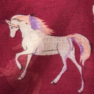 NWOT Unicorn Scarf